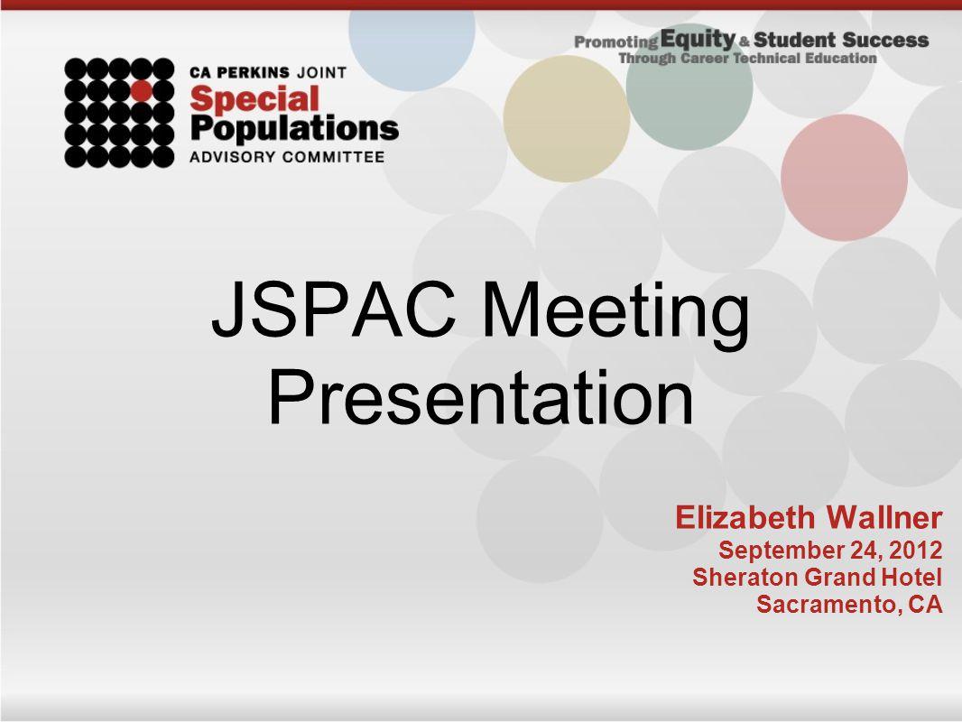 JSPAC Meeting Presentation