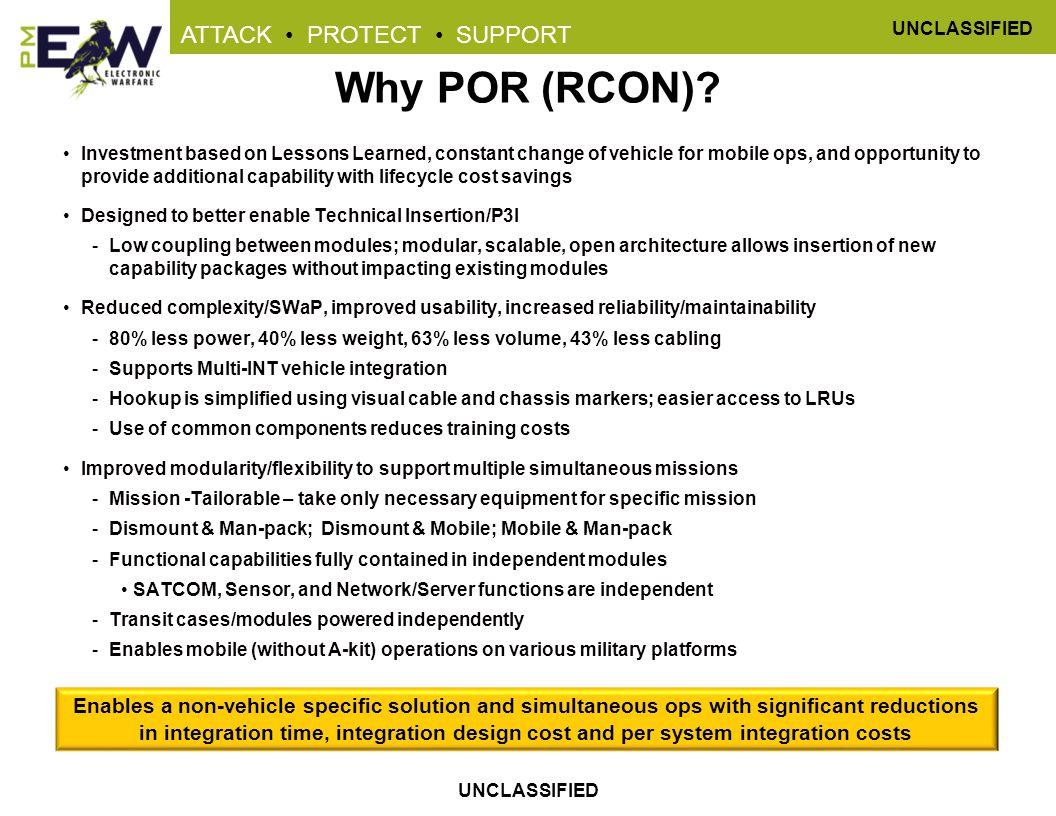 Why POR (RCON)