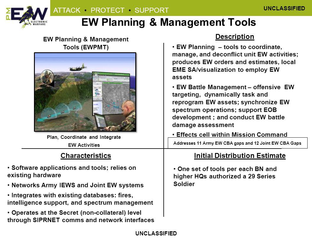 EW Planning & Management Tools