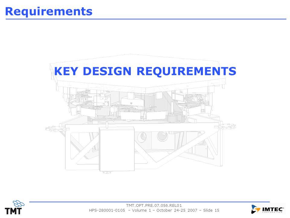 KEY DESIGN REQUIREMENTS