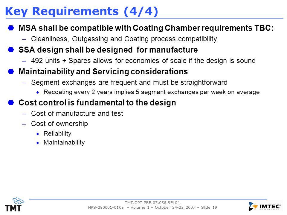 HPS-280001-0105 – Volume 1 – October 24-25 2007 – Slide 19
