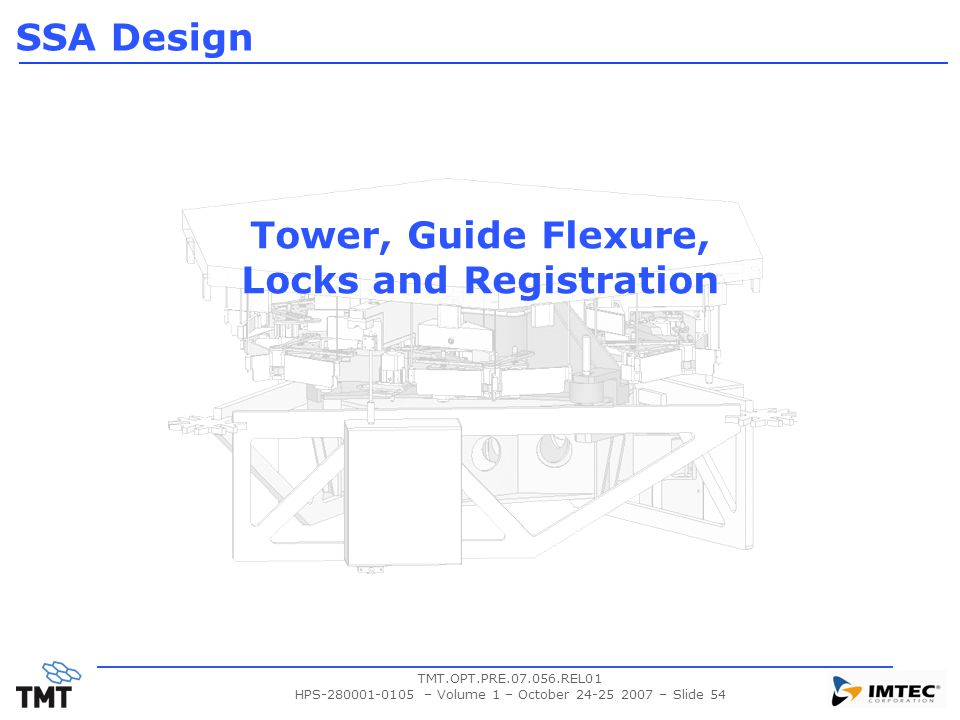Tower, Guide Flexure, Locks and Registration