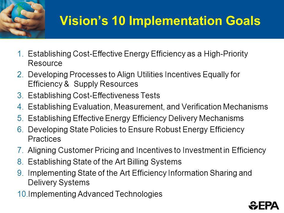 Vision's 10 Implementation Goals