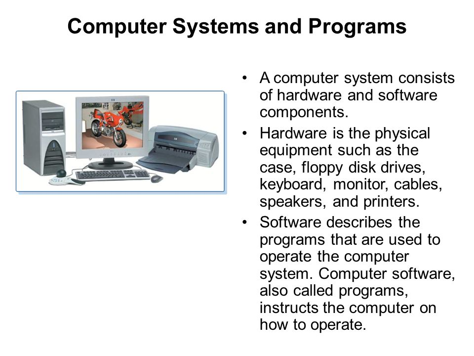 Computer Systems and Programs