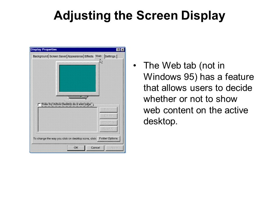 Adjusting the Screen Display