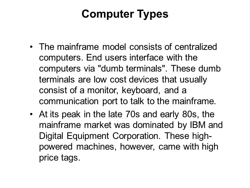 Computer Types