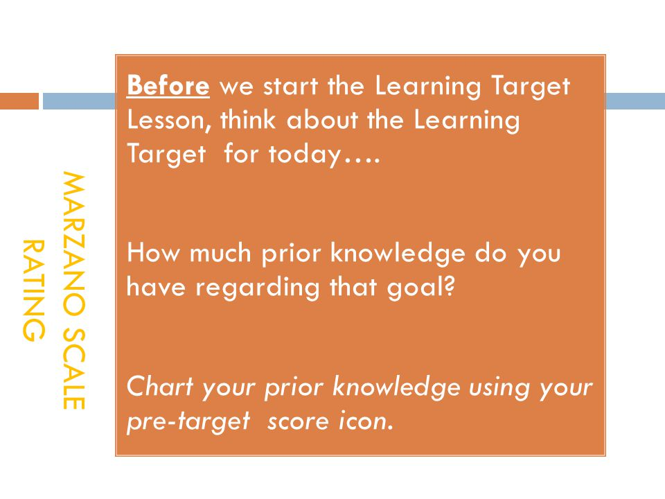 Before we start the Learning Target Lesson, think about the Learning Target for today….