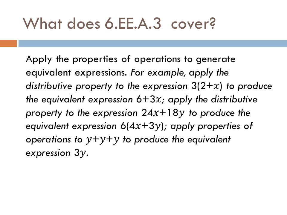 What does 6.EE.A.3 cover