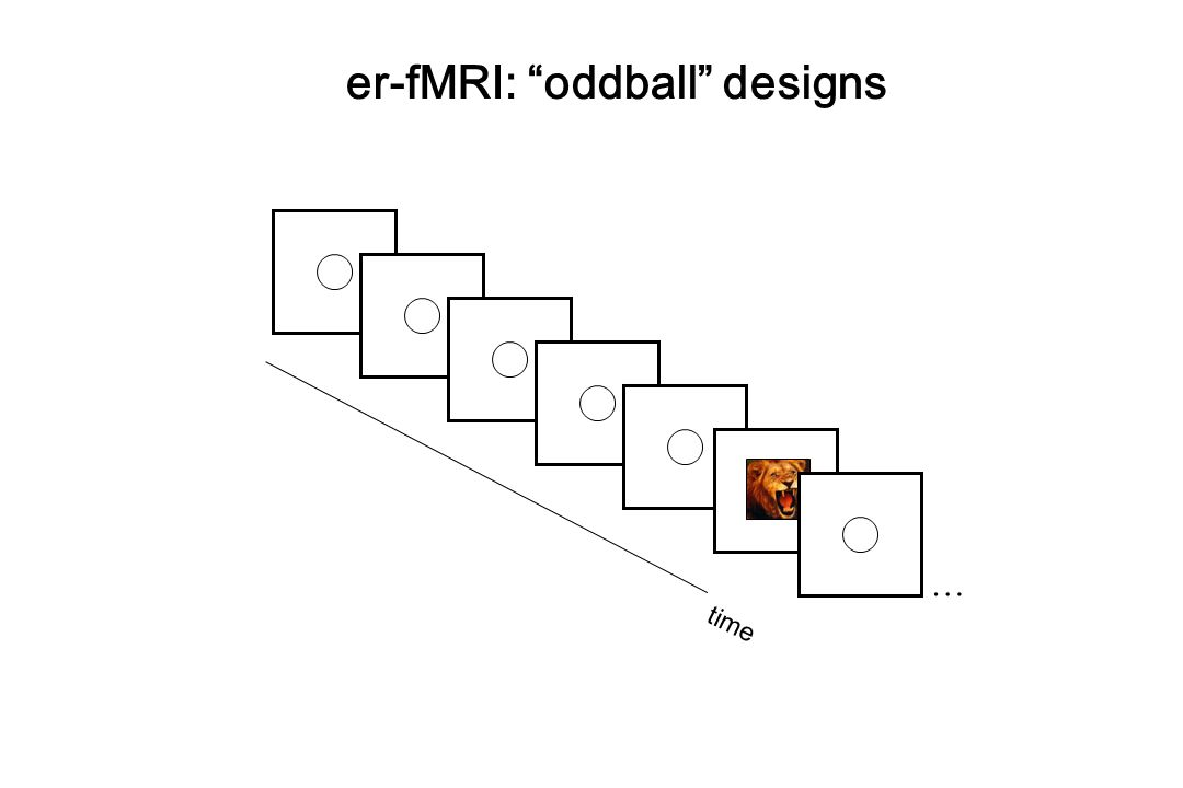er-fMRI: oddball designs