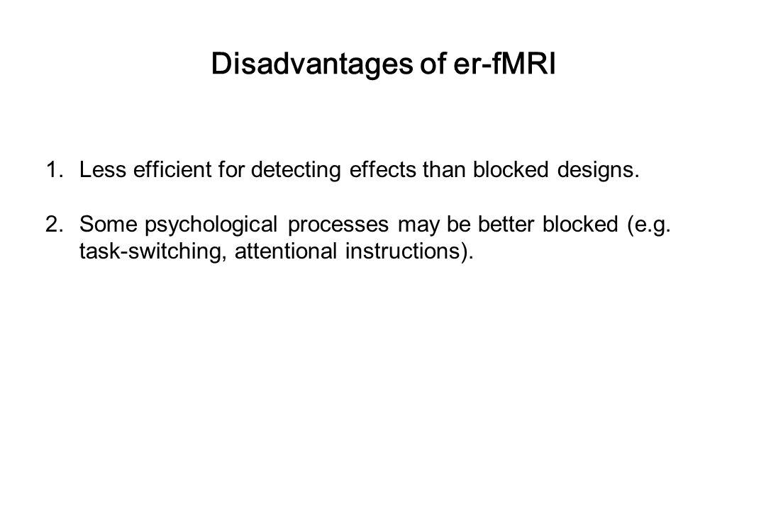 Disadvantages of er-fMRI