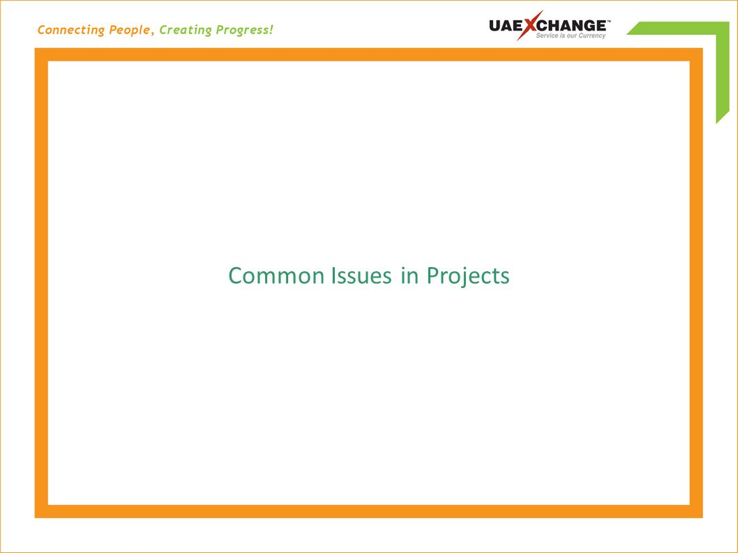 Common Issues in Projects