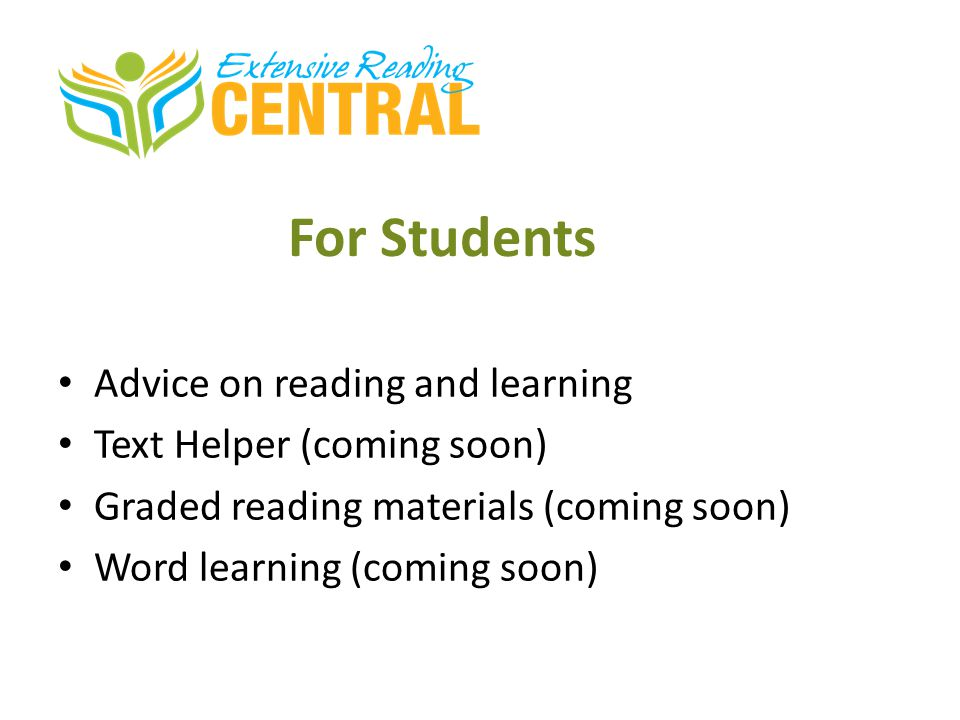 For Students Advice on reading and learning Text Helper (coming soon)