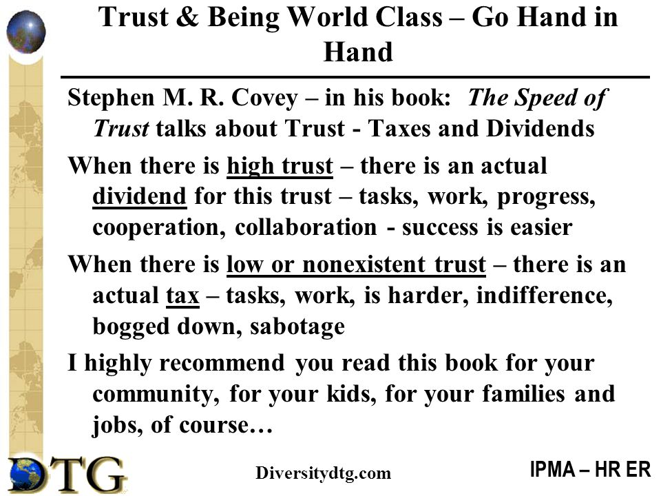 Trust & Being World Class – Go Hand in Hand