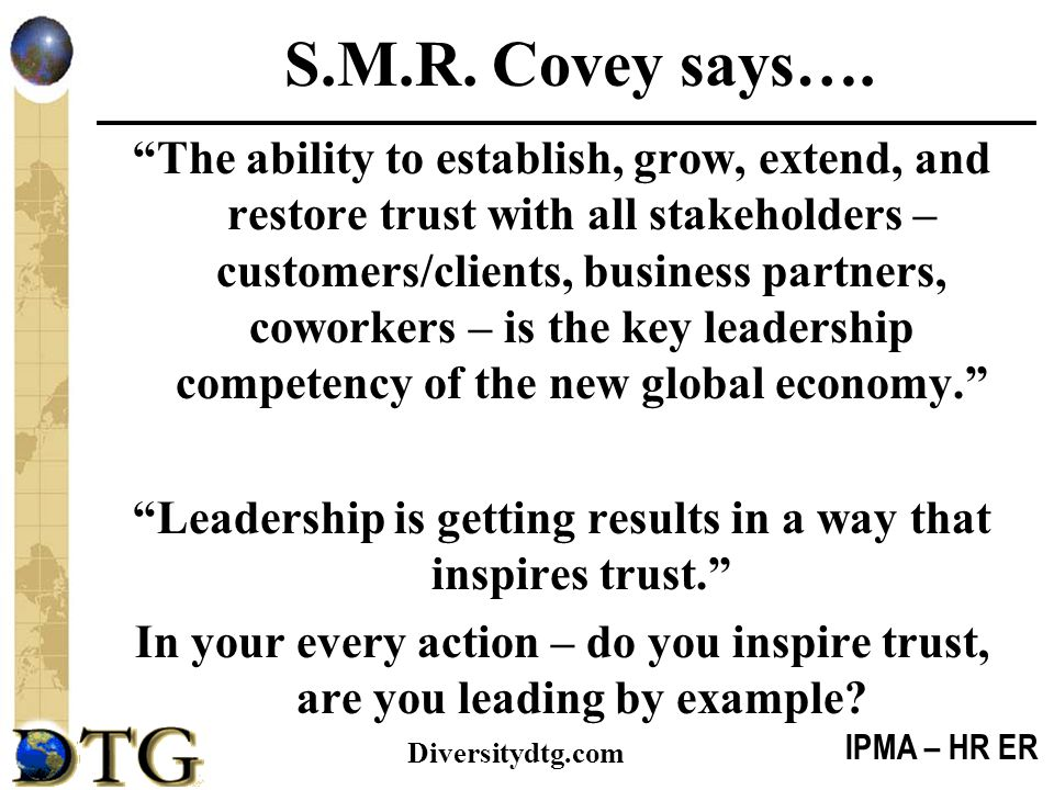 S.M.R. Covey says….