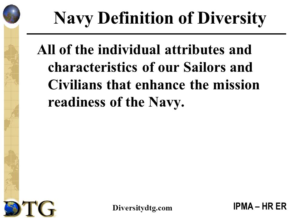 Navy Definition of Diversity