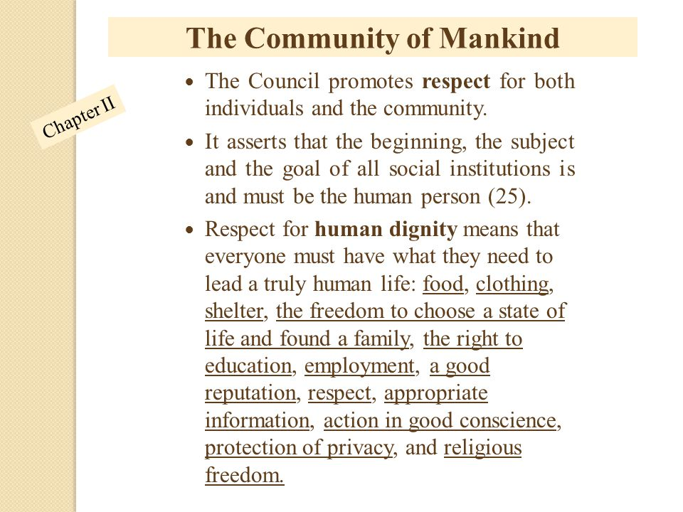 The Community of Mankind