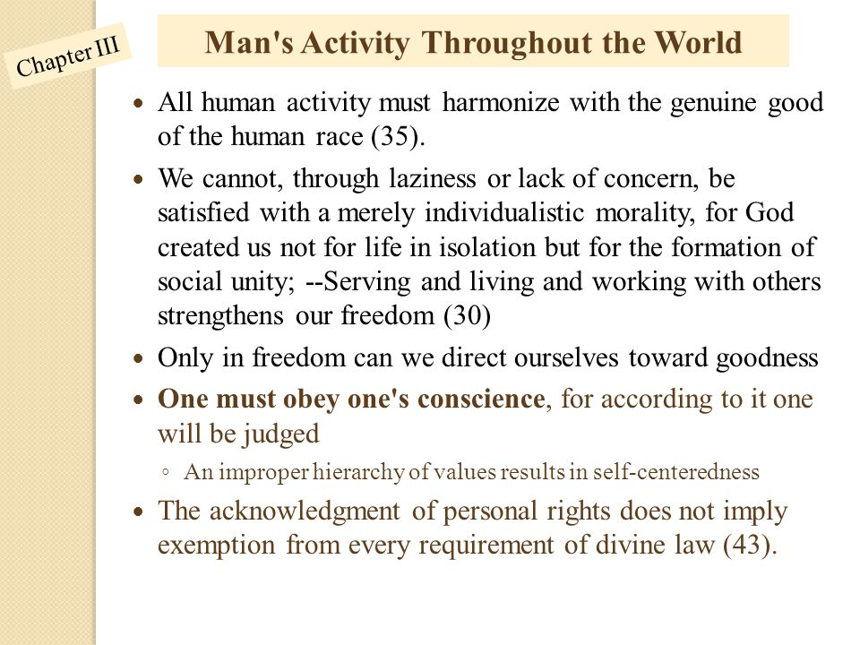 Man s Activity Throughout the World