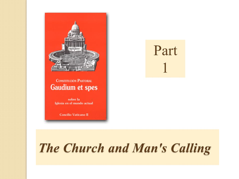 The Church and Man s Calling