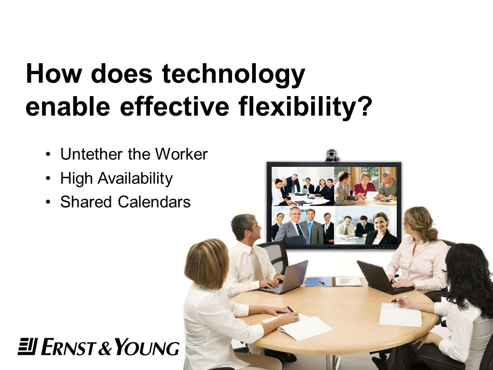 How does technology enable effective flexibility