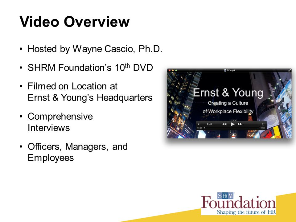 Video Overview Hosted by Wayne Cascio, Ph.D.