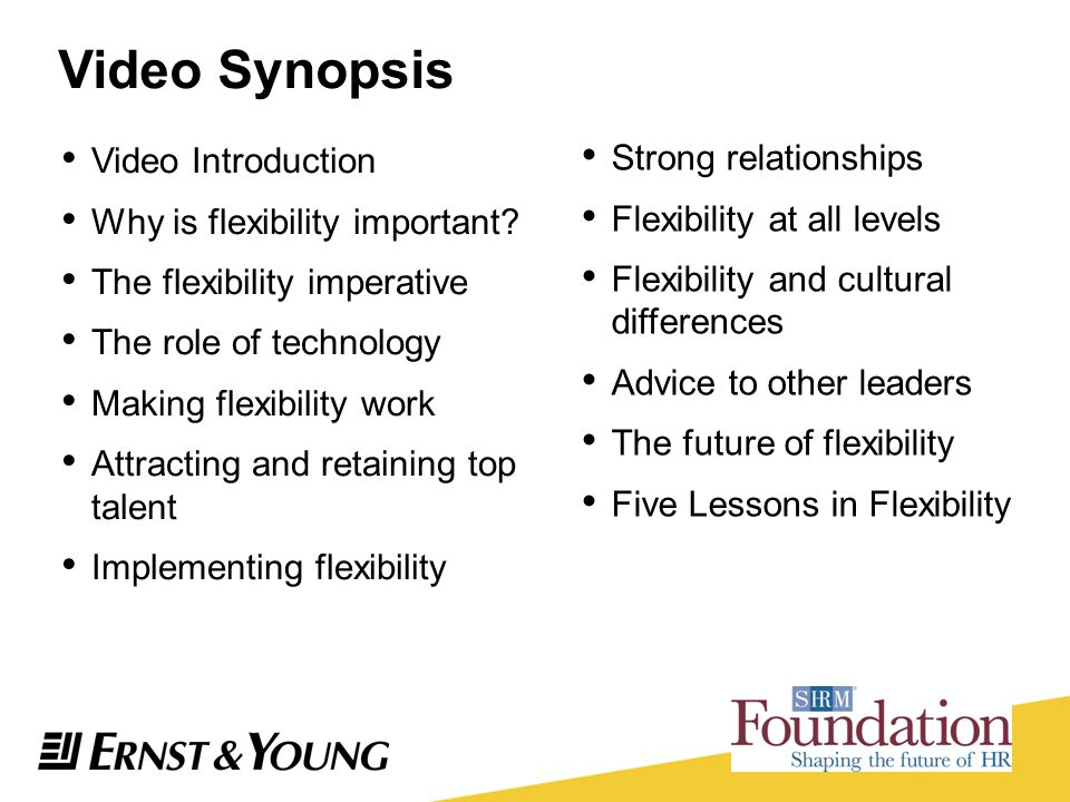 Video Synopsis Video Introduction Strong relationships