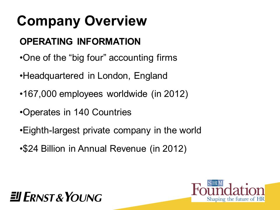 Company Overview OPERATING INFORMATION