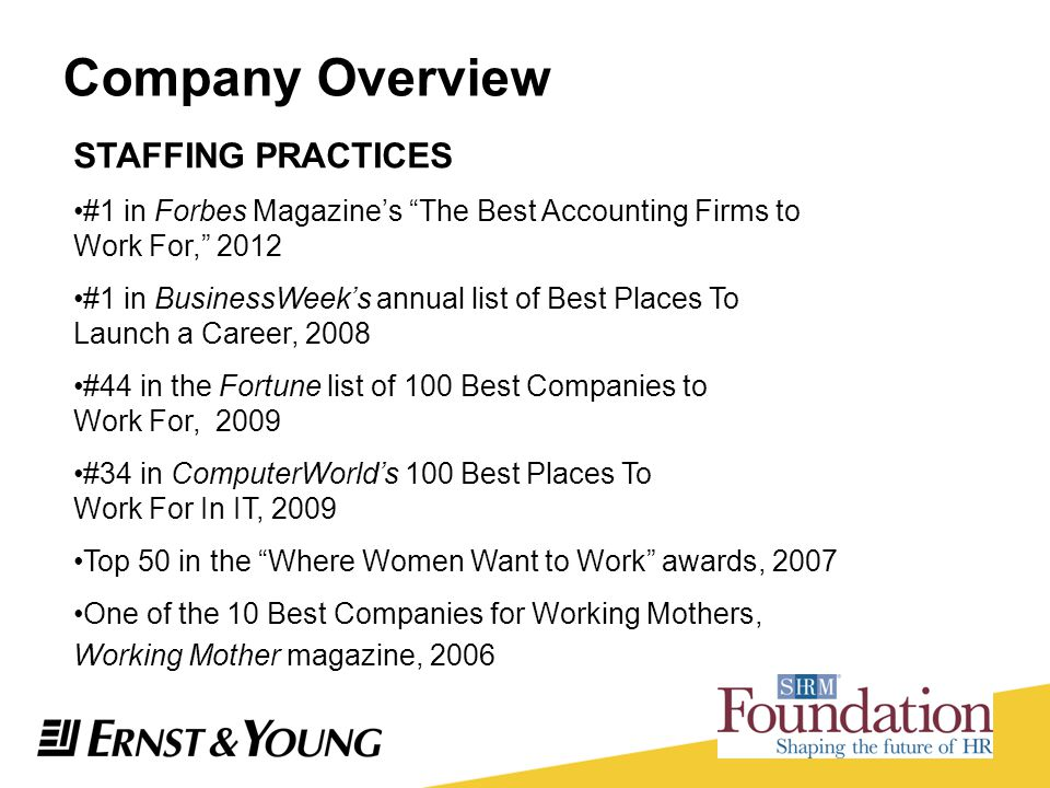 Company Overview STAFFING PRACTICES
