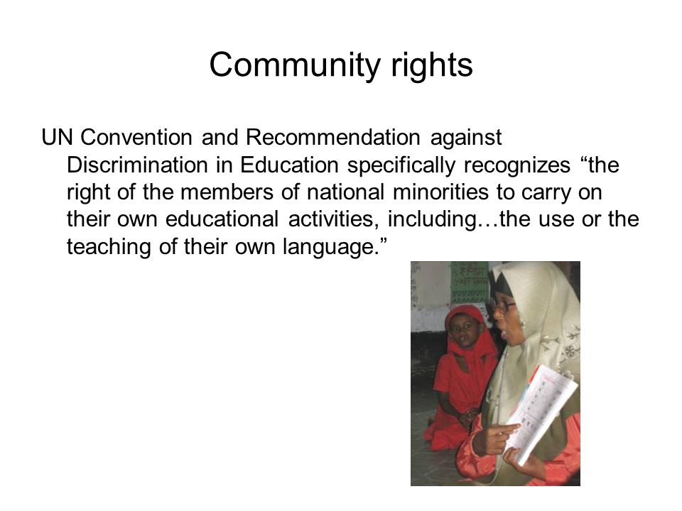 Community rights