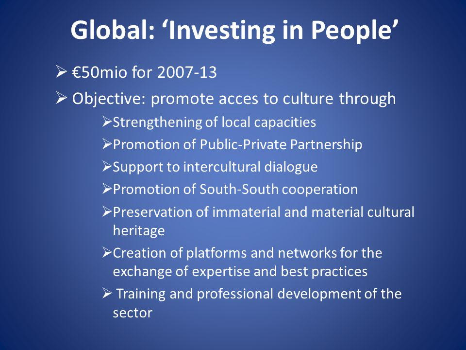 Global: 'Investing in People'