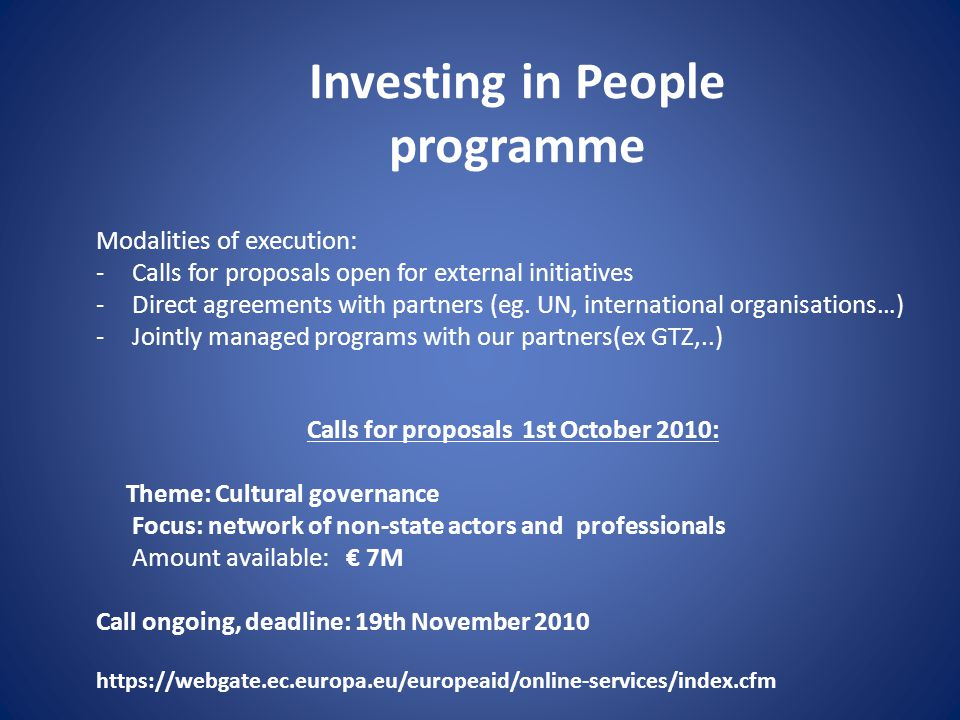 Investing in People programme