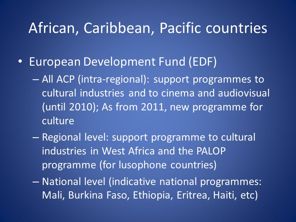African, Caribbean, Pacific countries