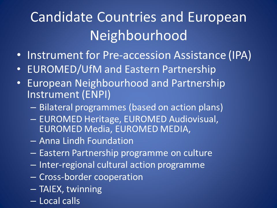 Candidate Countries and European Neighbourhood