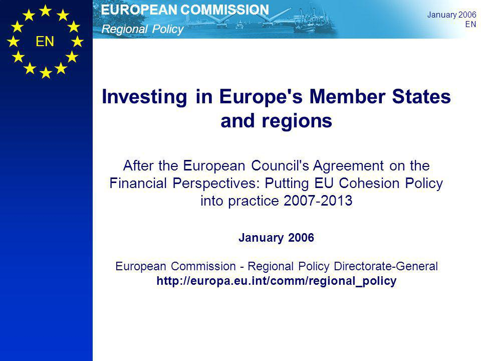 Investing in Europe s Member States and regions