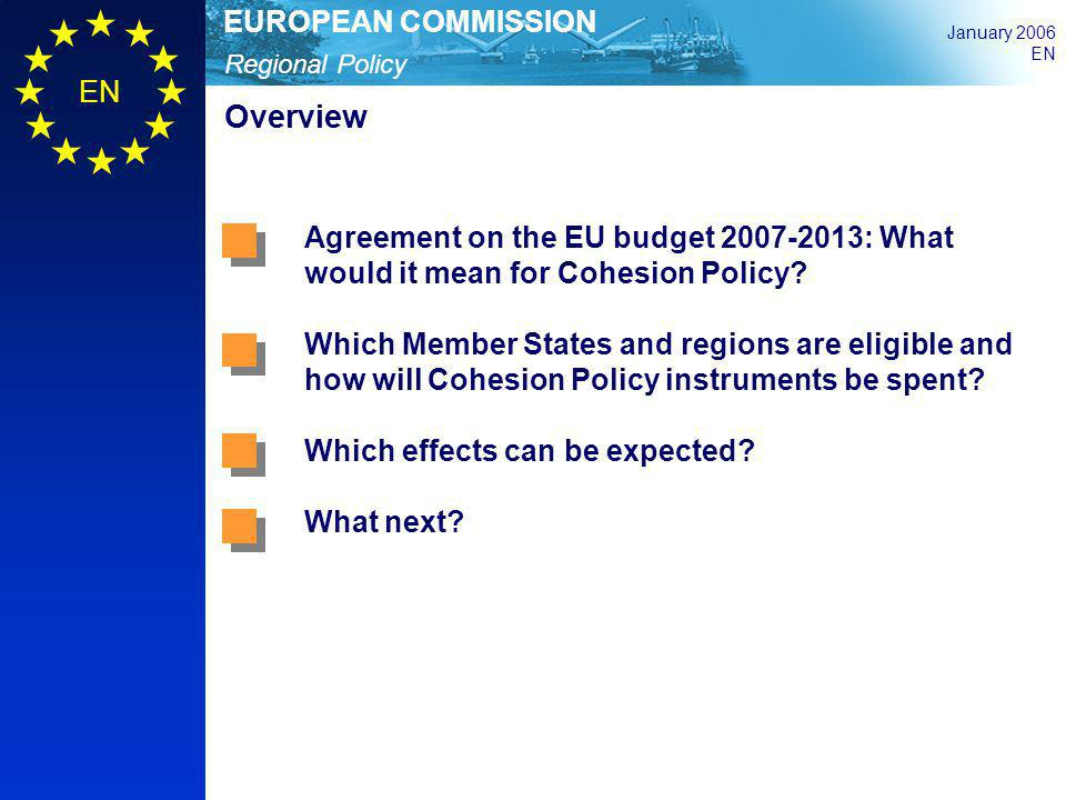 Overview Agreement on the EU budget 2007-2013: What would it mean for Cohesion Policy