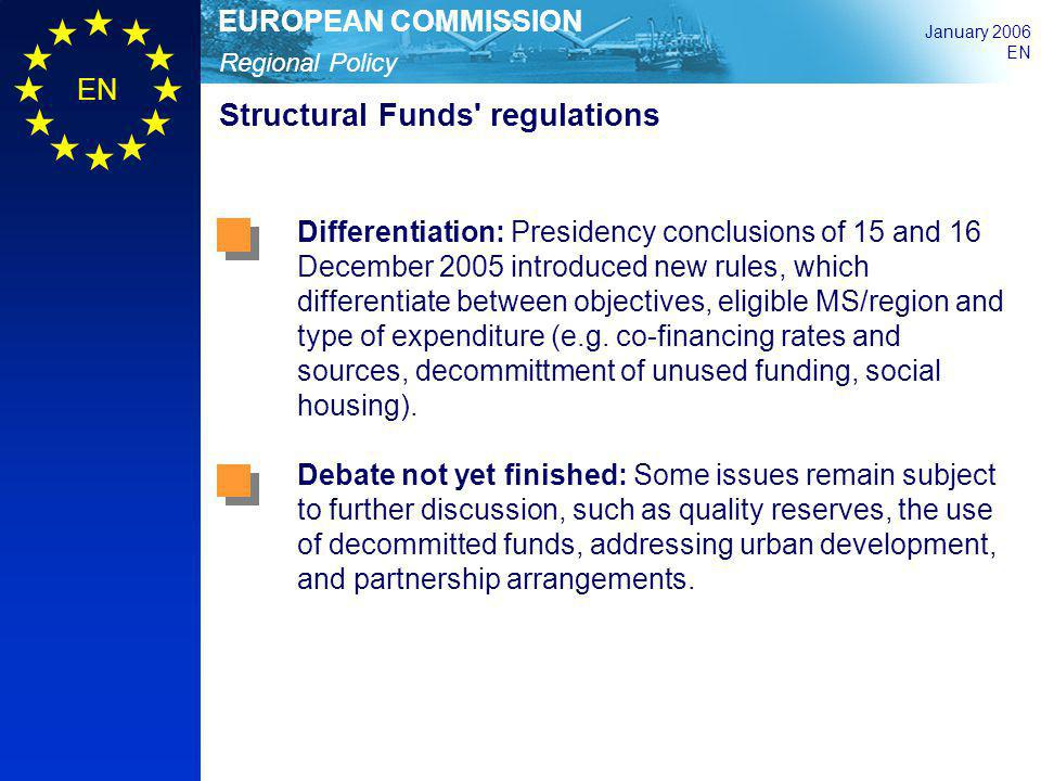 Structural Funds regulations