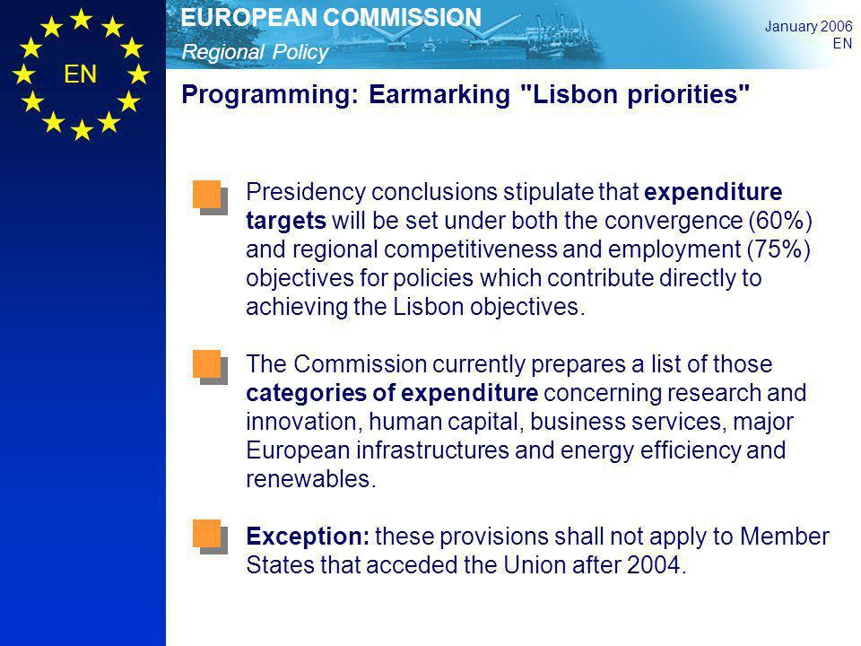 Programming: Earmarking Lisbon priorities
