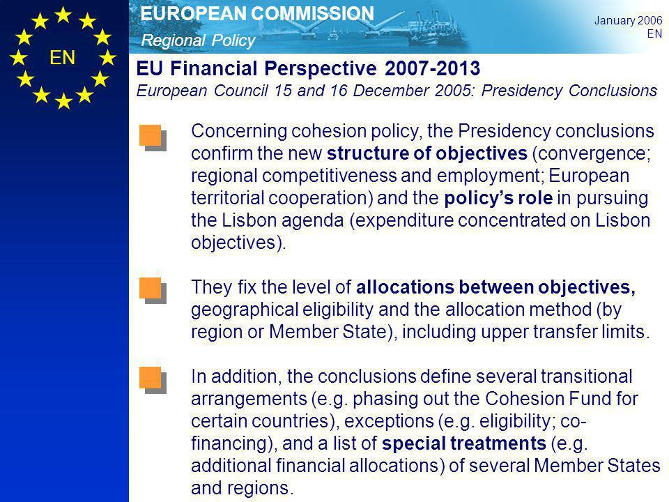 EU Financial Perspective 2007-2013 European Council 15 and 16 December 2005: Presidency Conclusions