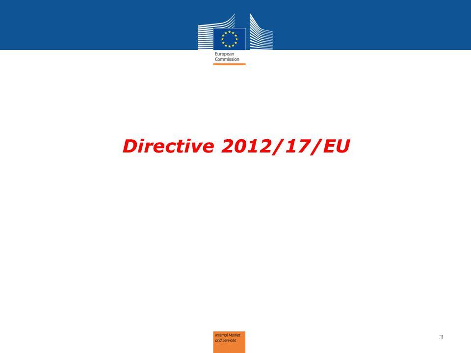 Directive 2012/17/EU