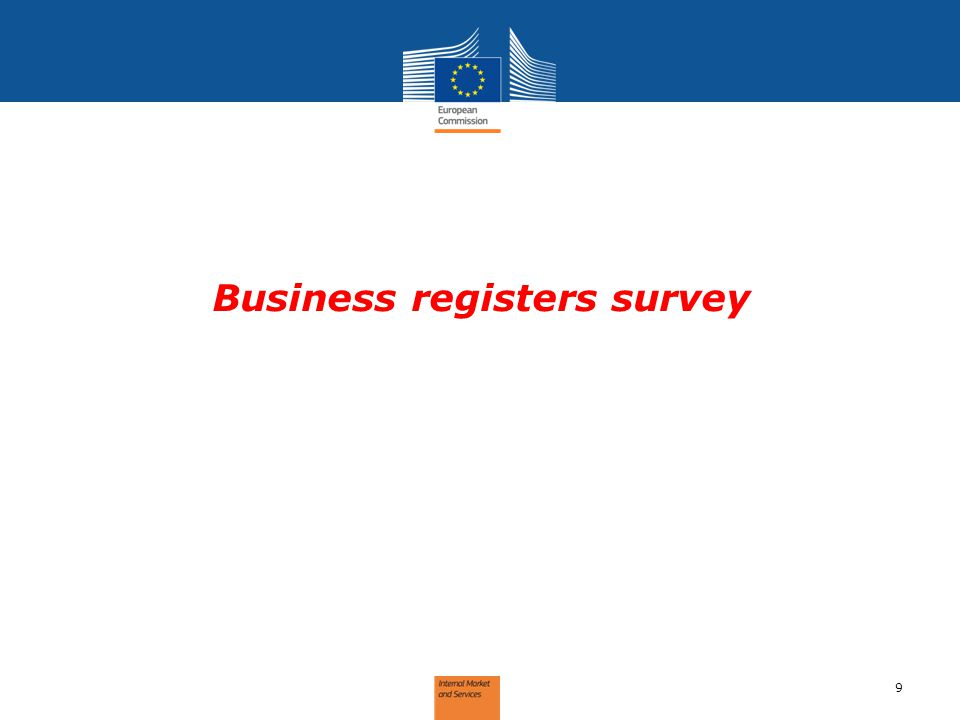 Business registers survey