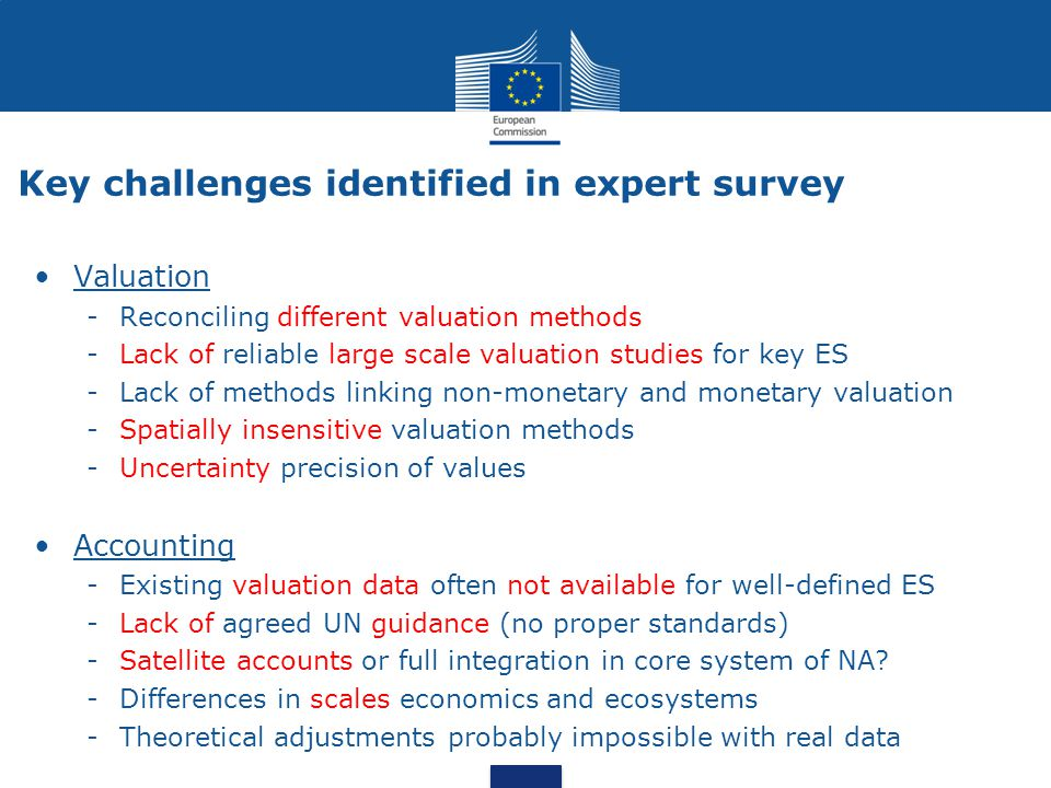 Key challenges identified in expert survey