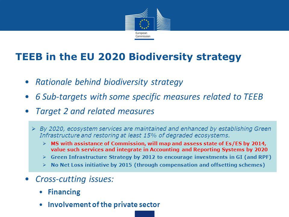 TEEB in the EU 2020 Biodiversity strategy