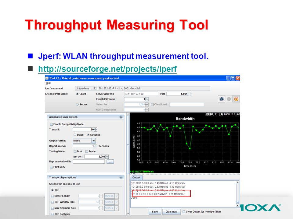 Throughput Measuring Tool