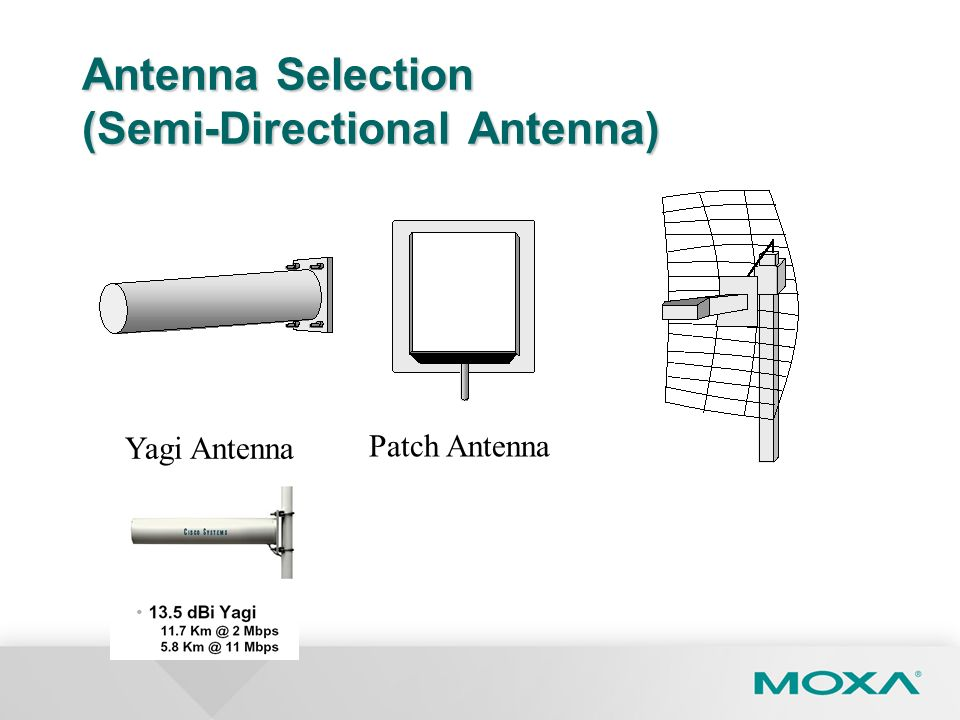 Antenna Selection (Semi-Directional Antenna)