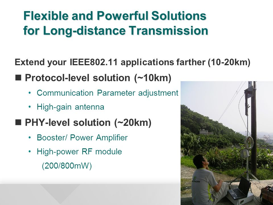 Flexible and Powerful Solutions for Long-distance Transmission