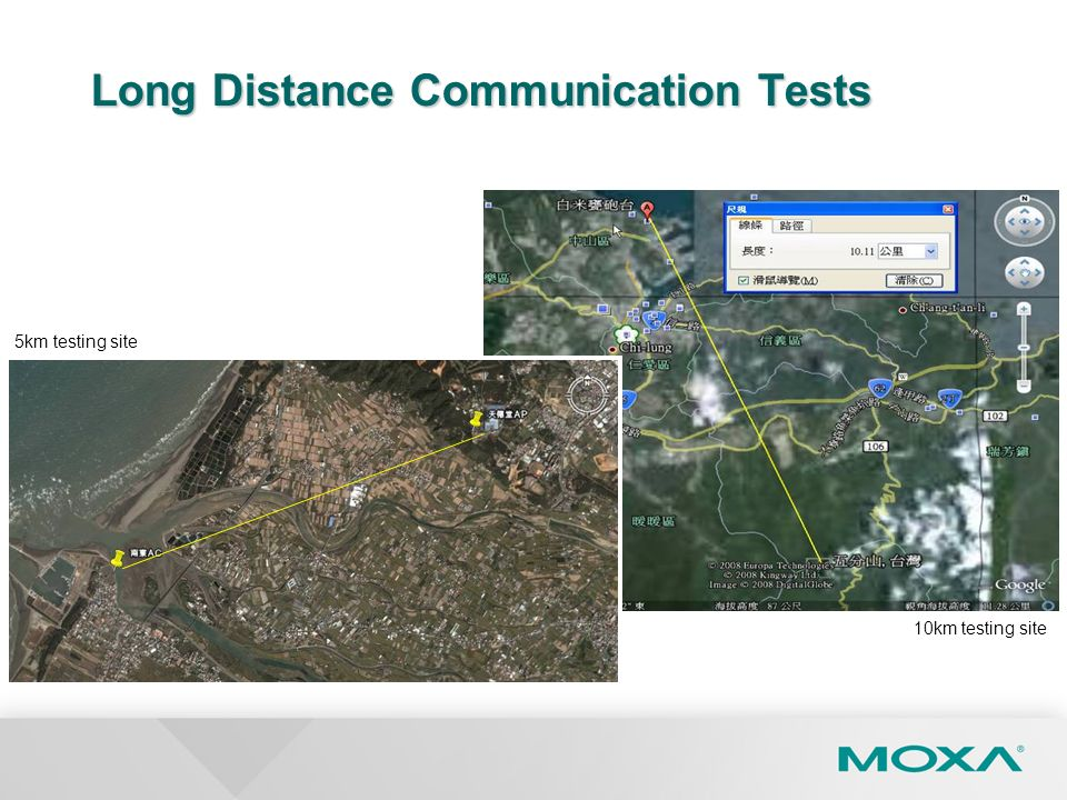 Long Distance Communication Tests
