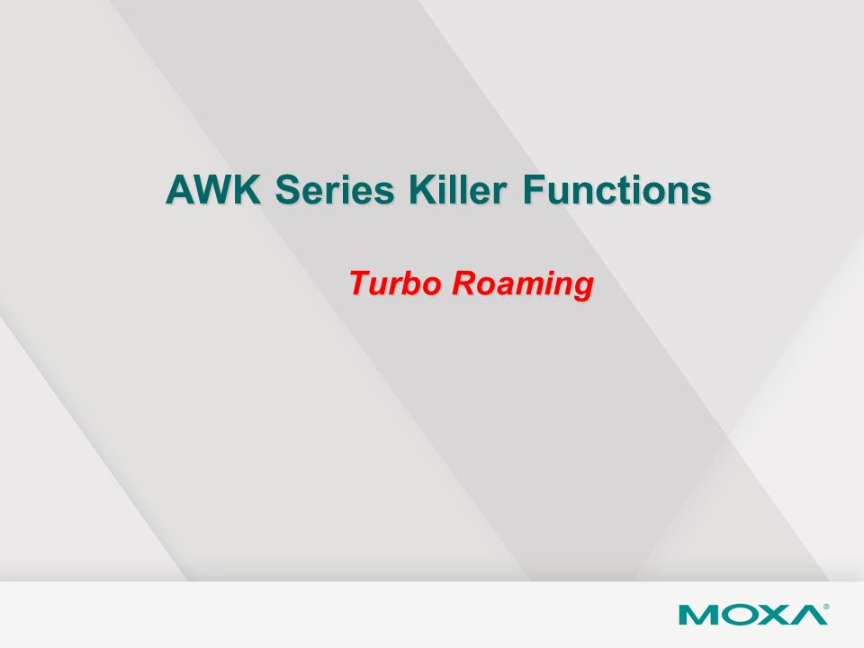 AWK Series Killer Functions Turbo Roaming