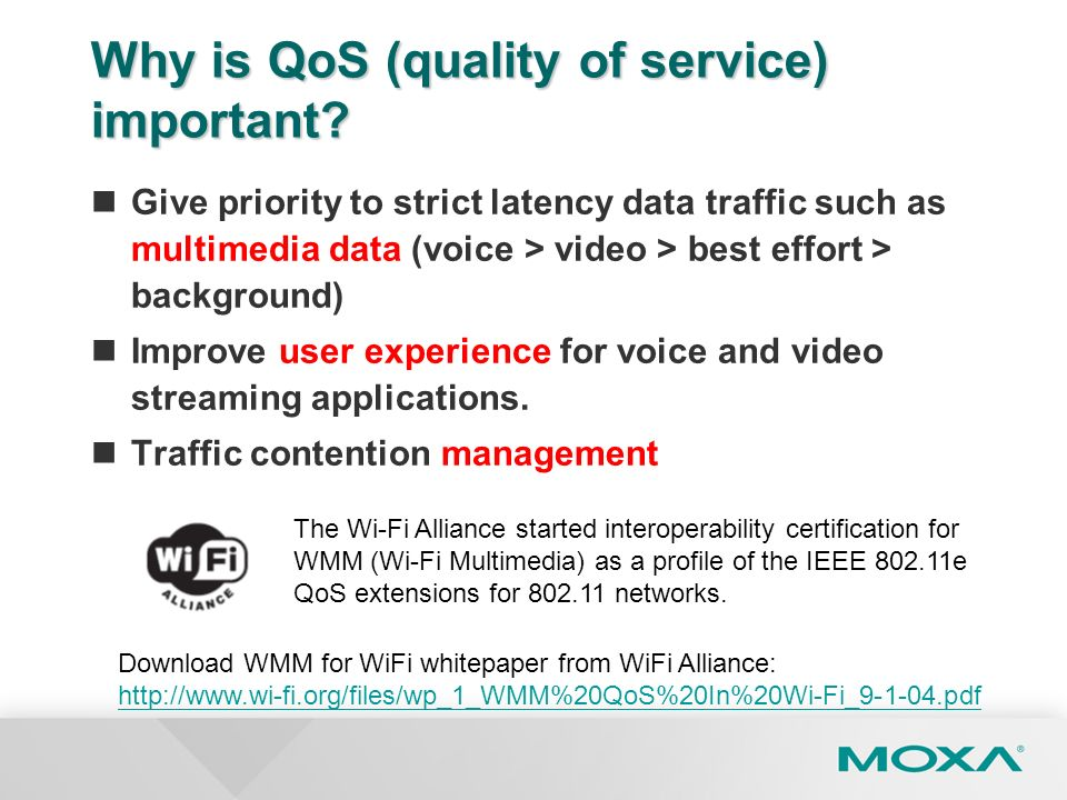 Why is QoS (quality of service) important