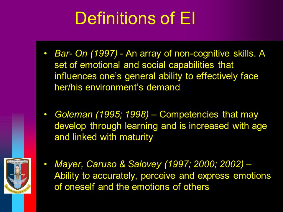 Definitions of EI
