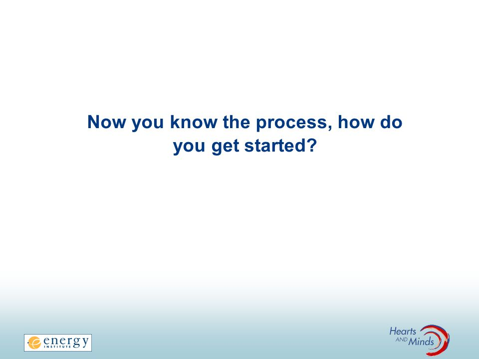 Now you know the process, how do you get started