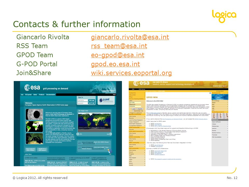 Contacts & further information